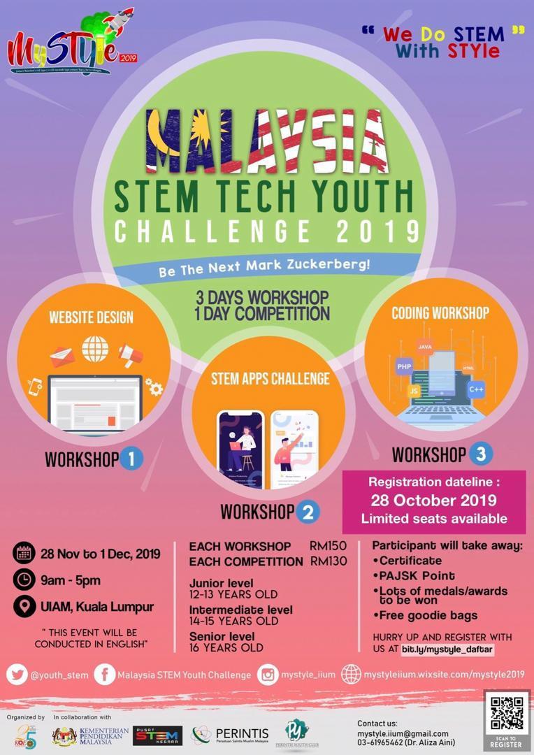 Malaysia Stem Tech Youth Challenge 2019 Perintis Persatuan Saintis Muslim Malaysia